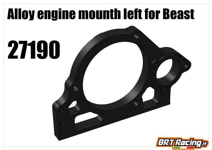 RS5 XT18 supporto motore beast sinistro 27190